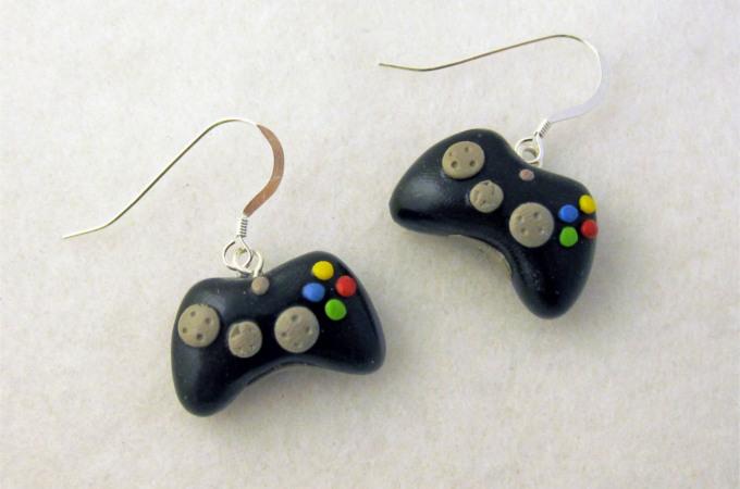 Gamepad earrings