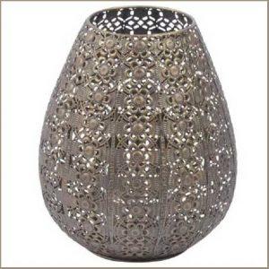 Buy them this Arabesque Burnished Gold Filigree Hurricane Lamp
