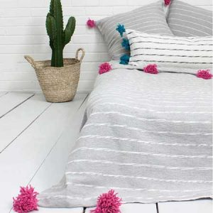 Buy them this handmade Moroccan Scribble Stripe Blanket for their anniversary gift