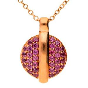 Buy her this Gold and Garnet Pendant for her anniversary gift