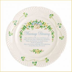 Buy her the Marriage Blessing Plate for this anniversary gift