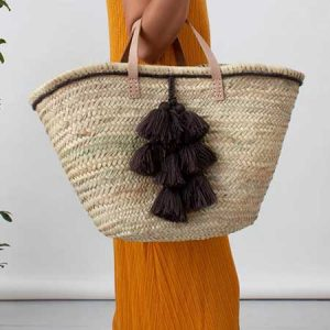 Buy her this Moroccan Fiesta Tassel Basket for this anniversary gift