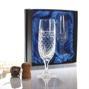 Buy them these Personalised Crystal Champagne Flutes