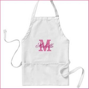 Buy her this personalised name apron for kitchen or craftwork