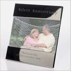 Buy her this Engraved Silver Anniversary Photo Frame
