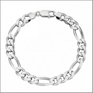 Buy him the Beginnings Sterling Silver Heavyweight Figaro 22cm Bracelet for this anniversary gift