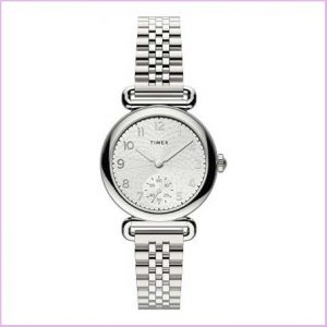 Buy her this Timex Ladies Silver Anaalog watch for this anniversary gift
