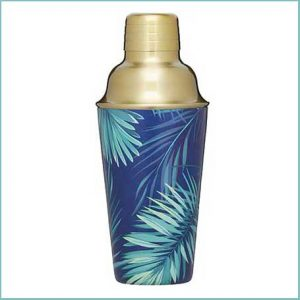 Buy him this tropical leaf cocktail shaker for his anniversary gift.