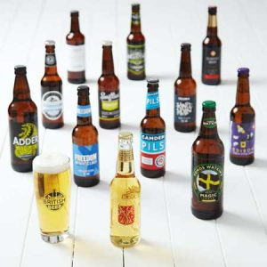 Buy him this set of craft lagers for this anniversary gift.