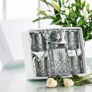 Buy him the Galway Crystal Renmore Decanter Set for this anniversary gift