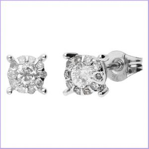 Buy her these 9ct White Gold Diamond Cluster Earrings for this 30th anniversary gift