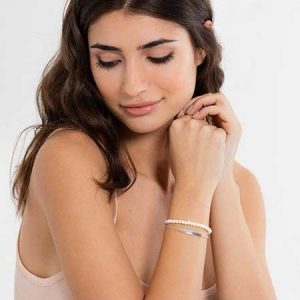 Buy her this Thomas Sabo Love Bridge Pearl Silver White Bracelet for this anniversary gift