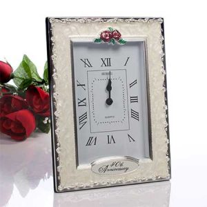 Buy them this 40th wedding anniversary clock as a gift
