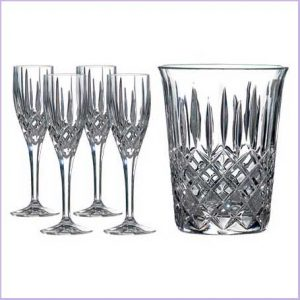 Buy them this Champagne Bucket and 4 Champagne Flutes from Royal Doulton for their 45th anniversary gift