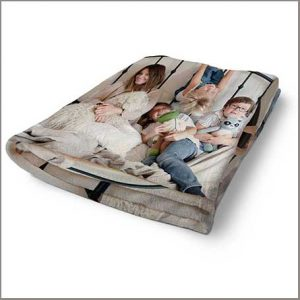 Buy them this fleece photo blanket with your own photos for this anniversary gift