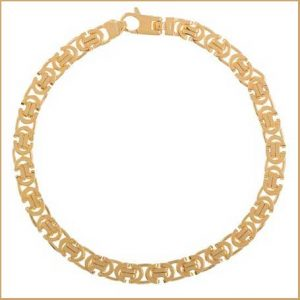 Buy him a piece of gold jewellery for his 45th wedding anniversary gift